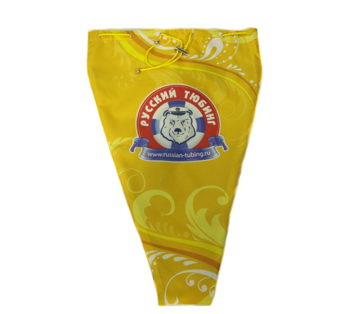 Фирменная сумка для хранения тюбинга желтая полноцвет