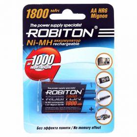 """Аккумулятор AA """"Robiton"""" 1800 mAh 1.2v"""