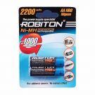 """Аккумулятор AA """"Robiton"""" 2200 mAh 1.2v"""