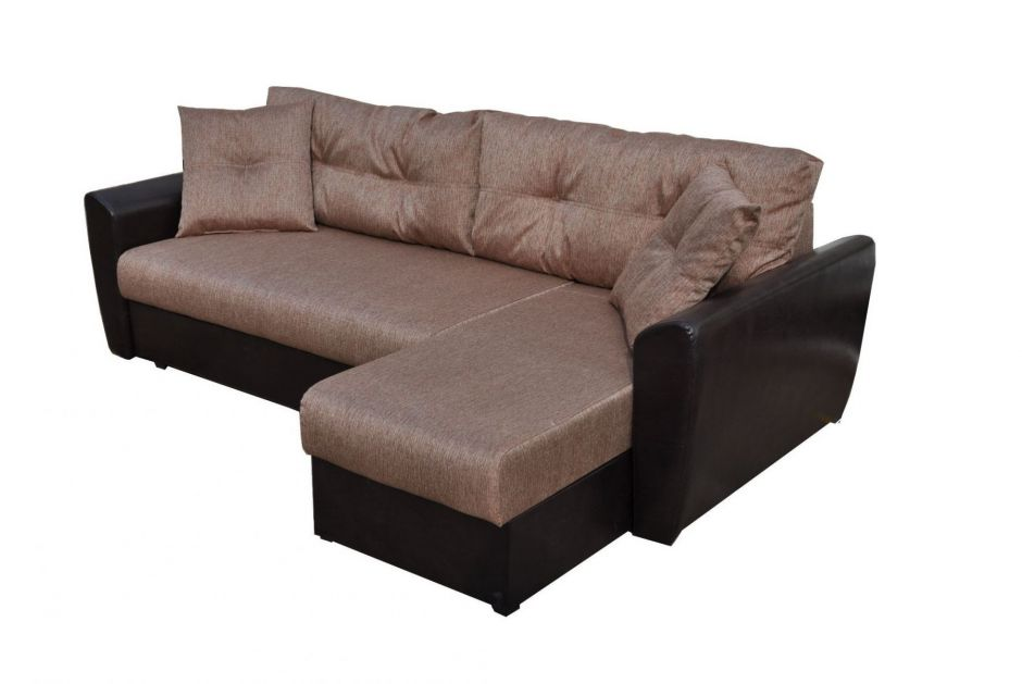 """Угловой диван """"Амстердам"""" коричневый"""