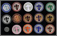 Орден тамплиеров 14 монет. Коллекция сувенирных монет