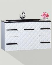 Тумба для ванной комнаты Бриклаер Жаклин 110 подвесная, белый глянец