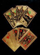 Позолоченные игральные карты 54 шт. Колода, покрытая золотом. Рубашка 100 долларов