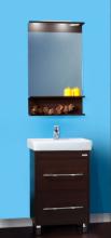Комплект мебели для ванной комнаты Бриклаер Чили 55 венге