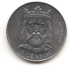 Карл Великий 1 сантим Андорра 2002