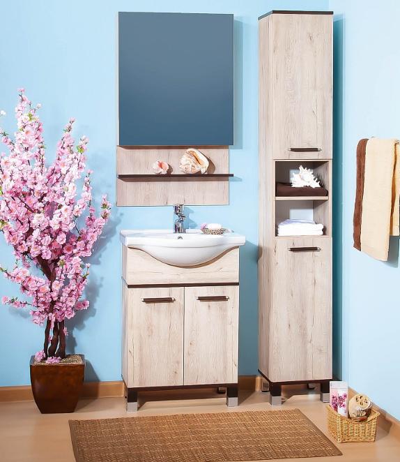 Комплект мебели для ванной комнаты Бриклаер Карибы 60