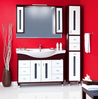 Комплект мебели для ванной комнаты Бриклаер Бали 120