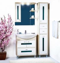 Комплект мебели для ванной комнаты Бриклаер Бали 75