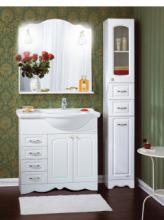 Комплект мебели для ванной комнаты Бриклаер Анна 90, белый