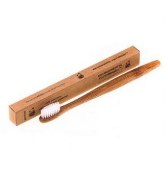 Зубная щетка из натурального бамбука Bamboobrush ср.ж., щетина без PBA-полимеров