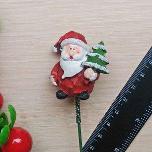 Дед мороз / Санта на штекере (на пике) пластик