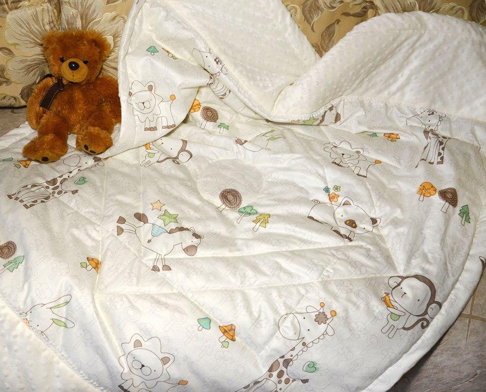 Плюшевое одеяльце из корейского плюша Минке