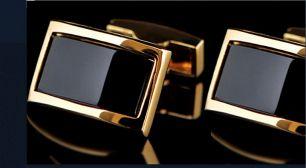 запонки под золото с матовым покрытием, модель 64