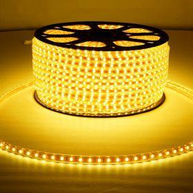 LED лента LUX, герметичная в силиконовой оболочке, 220V, 13*8 мм, IP65, SMD 5050, 60 диодов/метр, цвет светодиодов теплый белый
