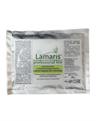 Альгинатная стимулирующая маска с фруктовыми экстрактами, 30 гр Lamaris