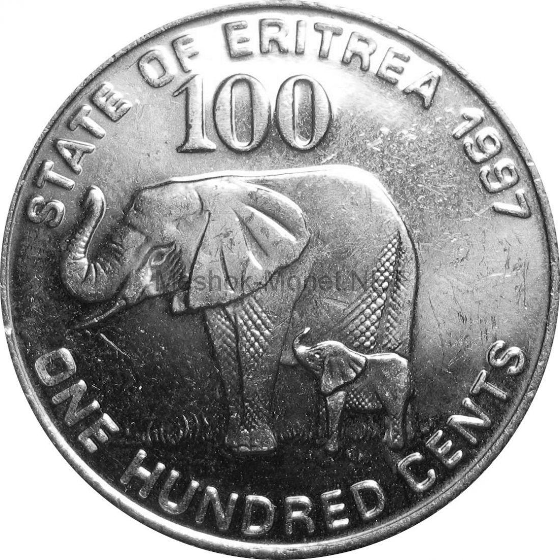 Эритрея 100 центов 1991 г.