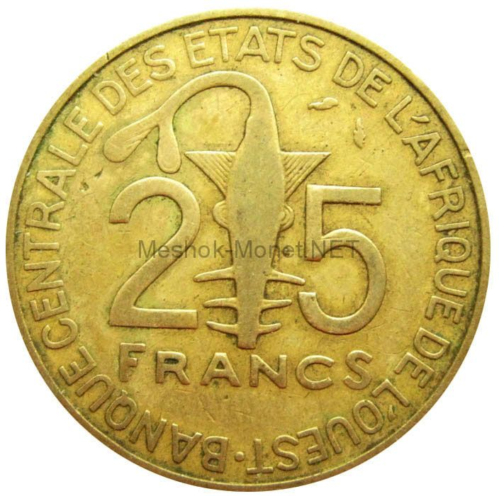 Западно-Африканский союз 25 франков 1982 г.