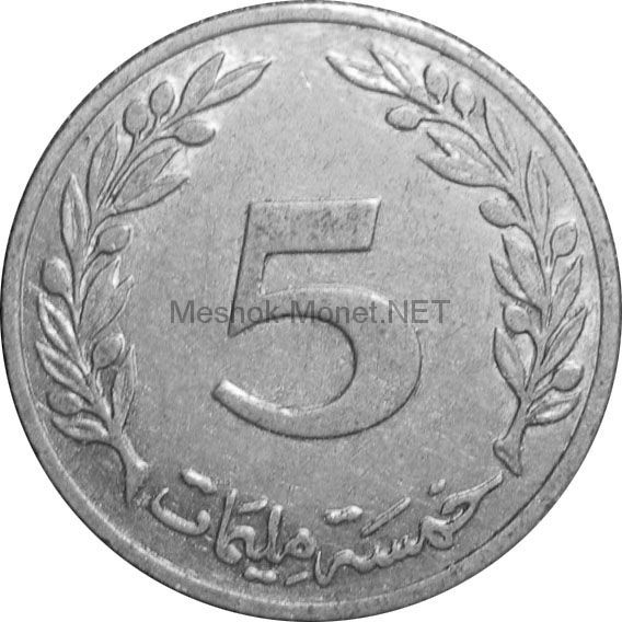 Тунис 5 миллим 1983 г.