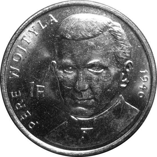 Конго 1 франк 2004 г. KM#156