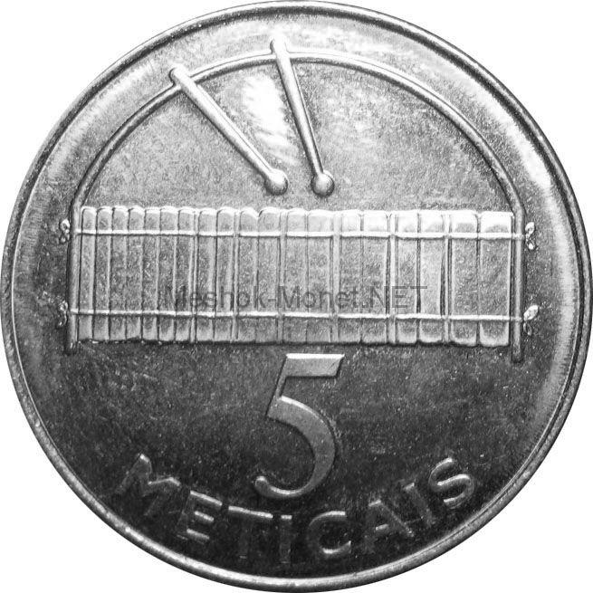 Мозамбик 5 метикаль 2006 г.