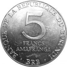 Бурунди 5 франков 1980 г.