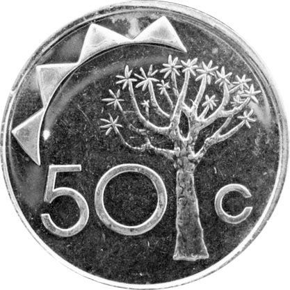 Намибия 50 центов 2010 г.