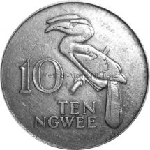 Замбия 10 нгвей 1968 г.