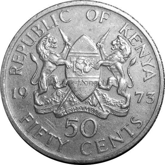 Кения 50 центов 1969 г.