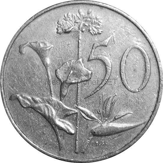 ЮАР 50 центов 1974 г.