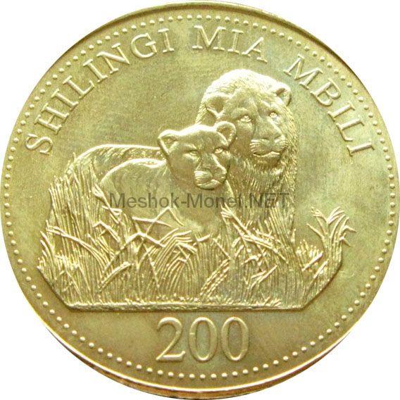 Танзания 200 шиллингов 1998 г.