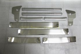 Накладки на пороги без подсветки (Тип 9) для Toyota Land Cruiser Prado 150