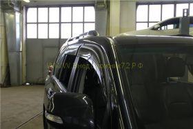 Дефлекторы окон (ветровики) широкие для Toyota Land Cruiser Prado 150