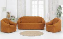 Набор чехлов для дивана  + 2 кресла (горчичный) Арт.1780-10