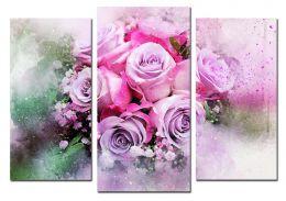 Розы за стеклом