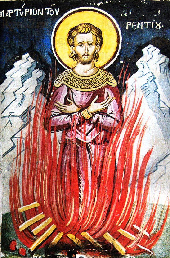 Флорентий Солунянин (рукописная икона)