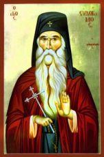 Евдоким Ватопедский (рукописная икона)