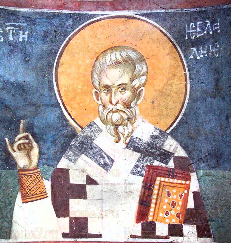 Евлалий  Кесарийский (Евлавий)  (рукописная икона)