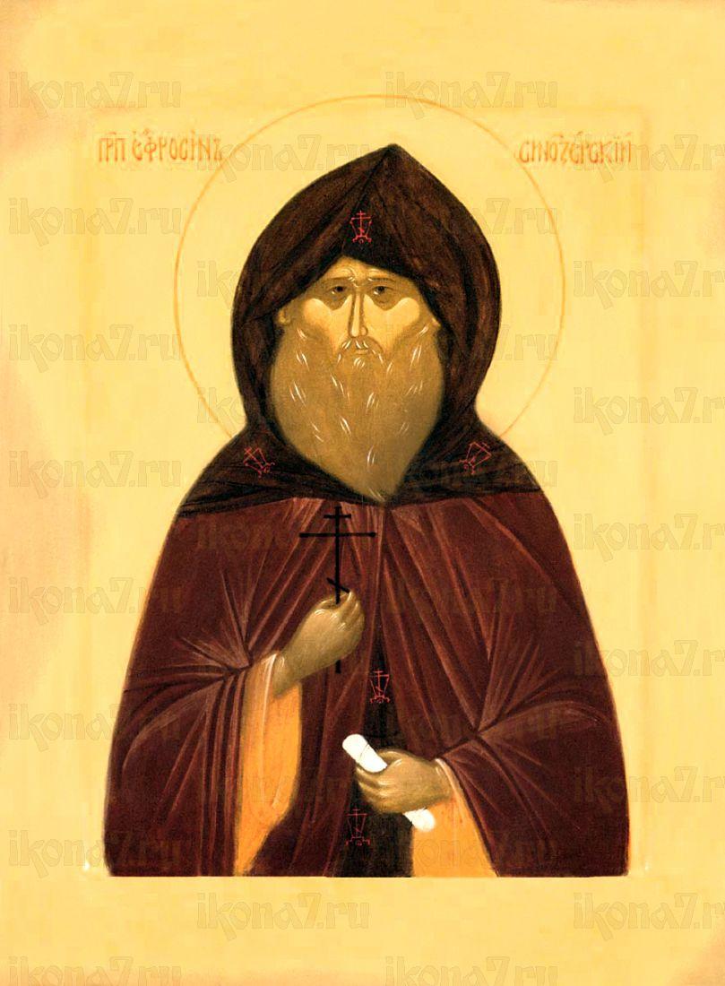 Евфросин Синозерский (Новгородский) (рукописная икона)