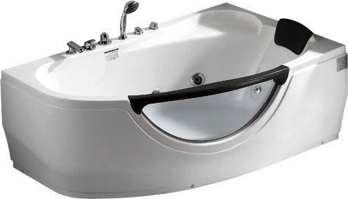 Стеклянная ванна Gemy G9046 B R 161x96 ФОТО