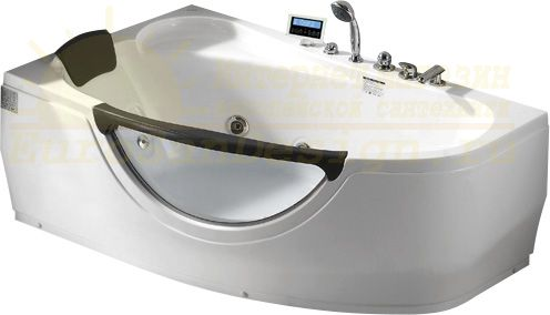 Стеклянная ванна Gemy G9046 K L 161x96 ФОТО