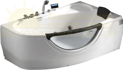 Стеклянная ванна Gemy G9046 K R 161x96 ФОТО