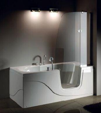 Стеклянная ванна Gemy G9246 B R 170x80 ФОТО