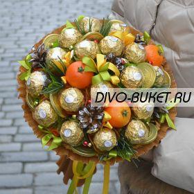 """Букет из конфет №680 """"Новогодний королёк"""""""