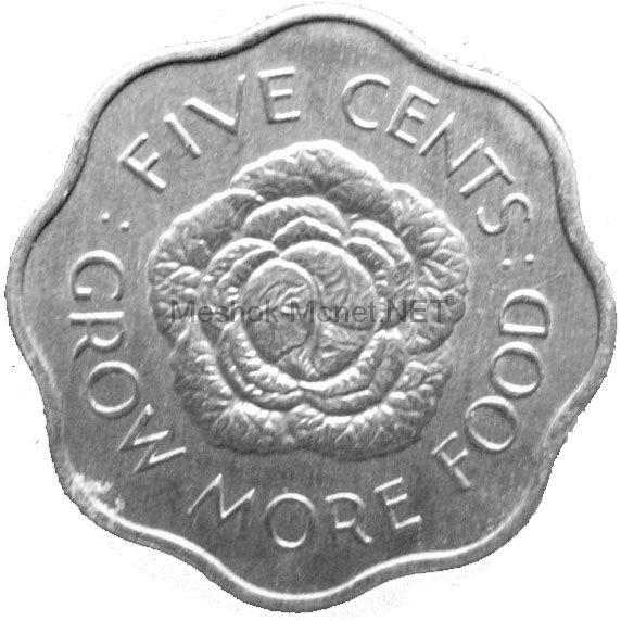 Сейшелы 5 центов 1972 г.