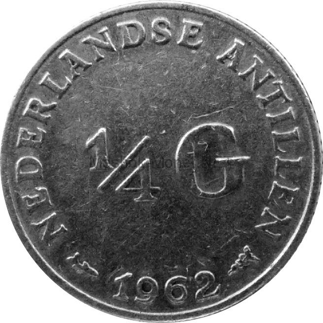 Антильские острова 1/4 гульдена 1962 г.