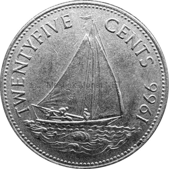 Багамские острова 25 центов 1966 г.