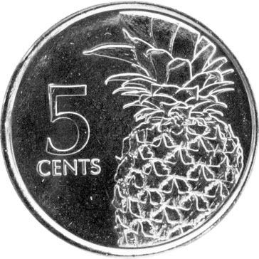 Багамские острова 5 центов 2015 г.