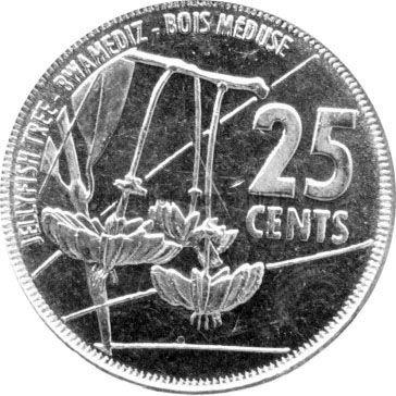 Сейшелы 25 центов 2016 г.