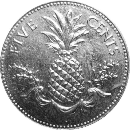 Багамские острова 5 центов 2005 г.