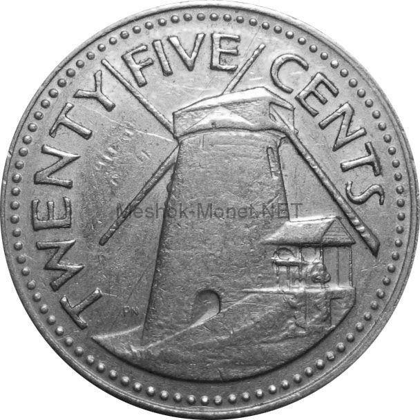Барбадос 25 центов 1978 г.